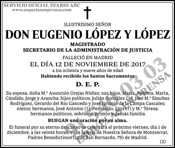 Eugenio López y López